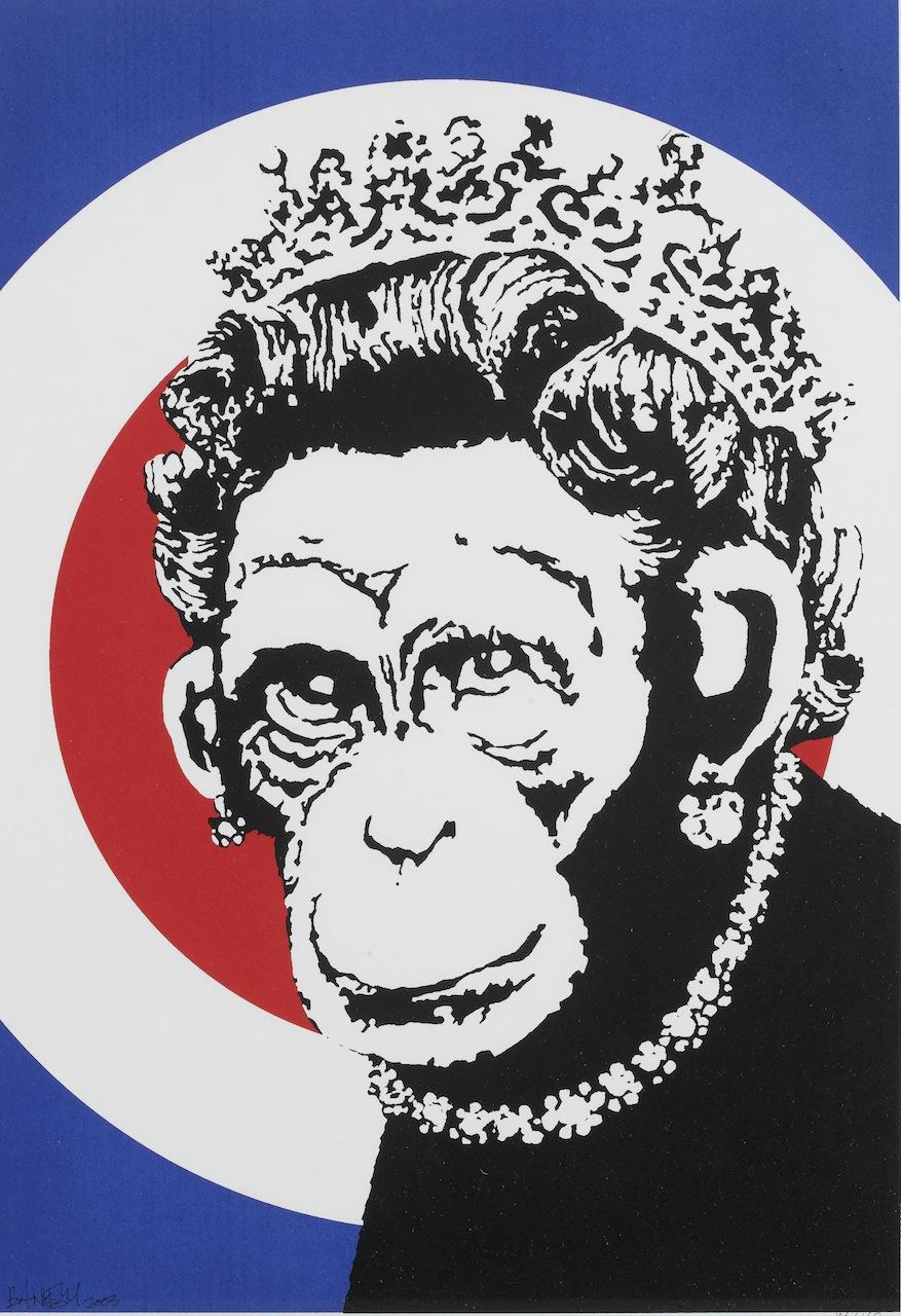 banksy monkeyqueen